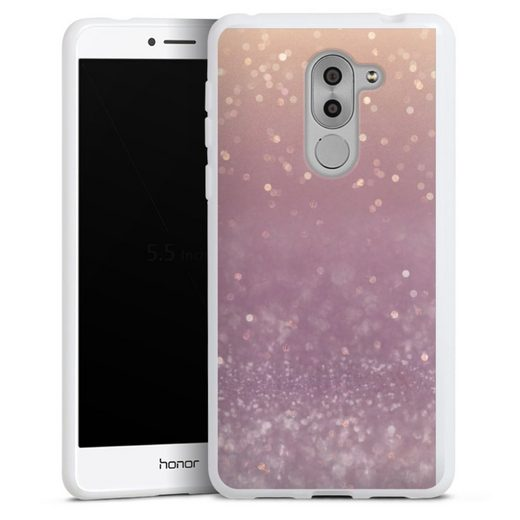 DeinDesign Handyhülle »Tender Gleam Glitterlook« Huawei Honor 6X, Hülle Glitzer Look Schneeflocken Muster