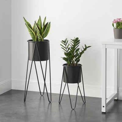 en.casa Blumenständer (2 Stück), Blumentopfständer »Hedera« im 2er Set