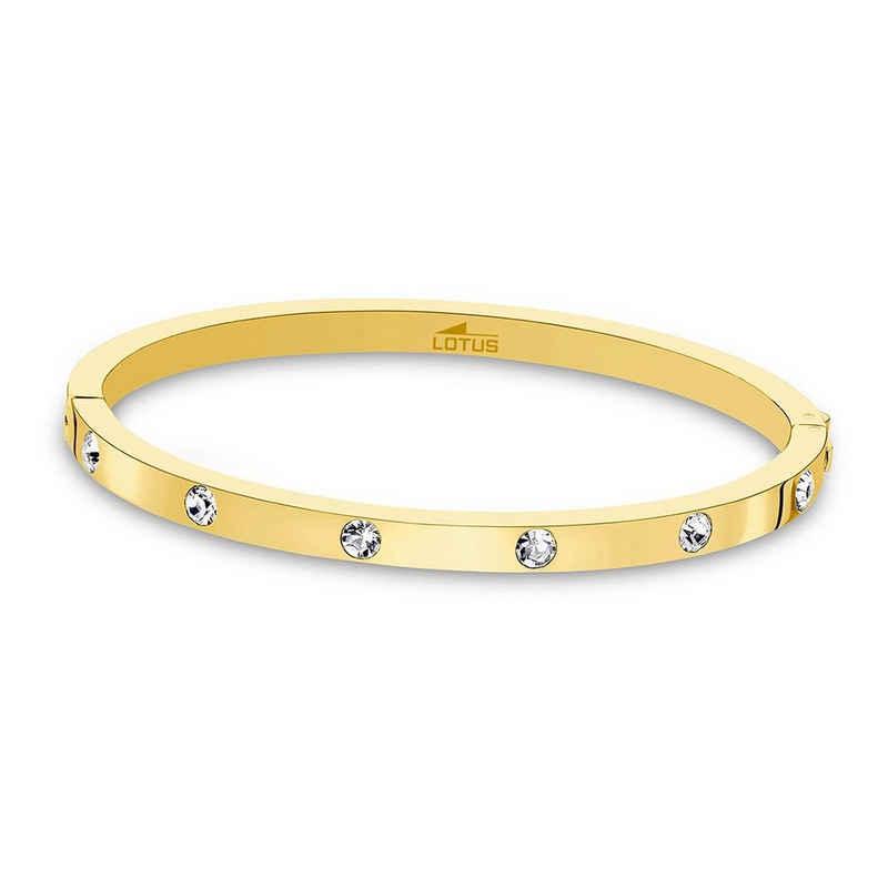 Lotus Style Armreif »JLS1846-2-2 Lotus Style Armband Armreif gold« (Armreifen), für Damen aus Edelstahl (Stainless Steel)