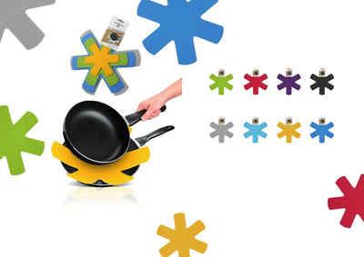 monkano Pfannenuntersetzer Pfannenschoner / Pfannenuntersetzer, Zubehör für Töpfe, Pfannen, Geschirr, Glas, hitzebeständig, rutschfest, recycletes PE-Material, in Europa hergestellt