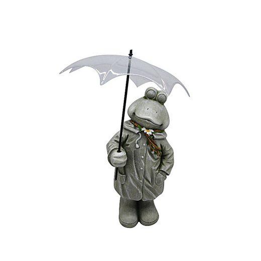 HTI-Line Dekofigur »Gartendeko Rain Frosch« (1 Stück), Gartendeko