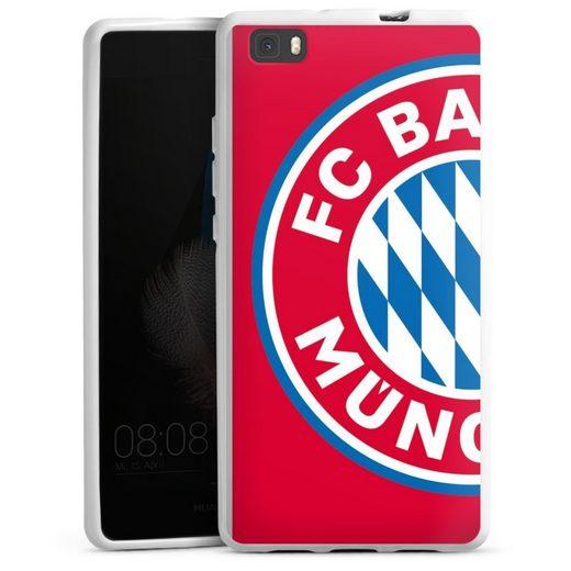 DeinDesign Handyhülle »großes FCB Logo Rot« Huawei P8 Lite (2015-2016), Hülle FC Bayern München Offizielles Lizenzprodukt FCB