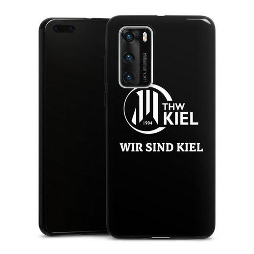 DeinDesign Handyhülle »Wir sind THW Kiel« Huawei P40, Hülle Handball THW Kiel Fanartikel