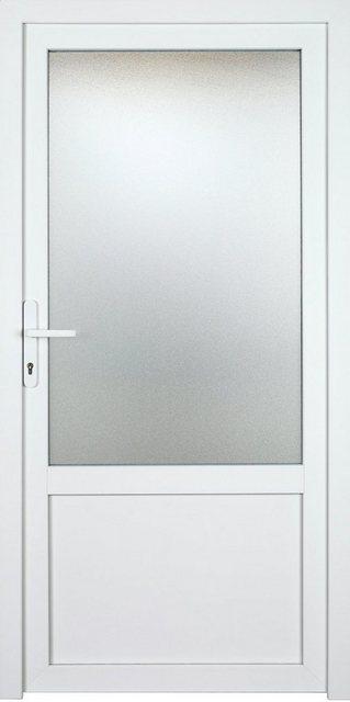 KM MEETH ZAUN GMBH Nebeneingangstür »K603P«| BxH: 98x198 cm| weiß| links | Baumarkt > Modernisieren und Baün > Türen | KM Zaun