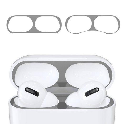 kwmobile Kopfhörer (2x Staubschutz Sticker für Apple AirPods Pro - Metallstaub Schutz Aufkleber Skins)
