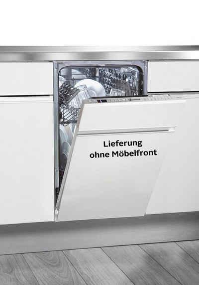 BAUKNECHT vollintegrierbarer Geschirrspüler, BSIO 3T223 PE X (2), 10 Maßgedecke