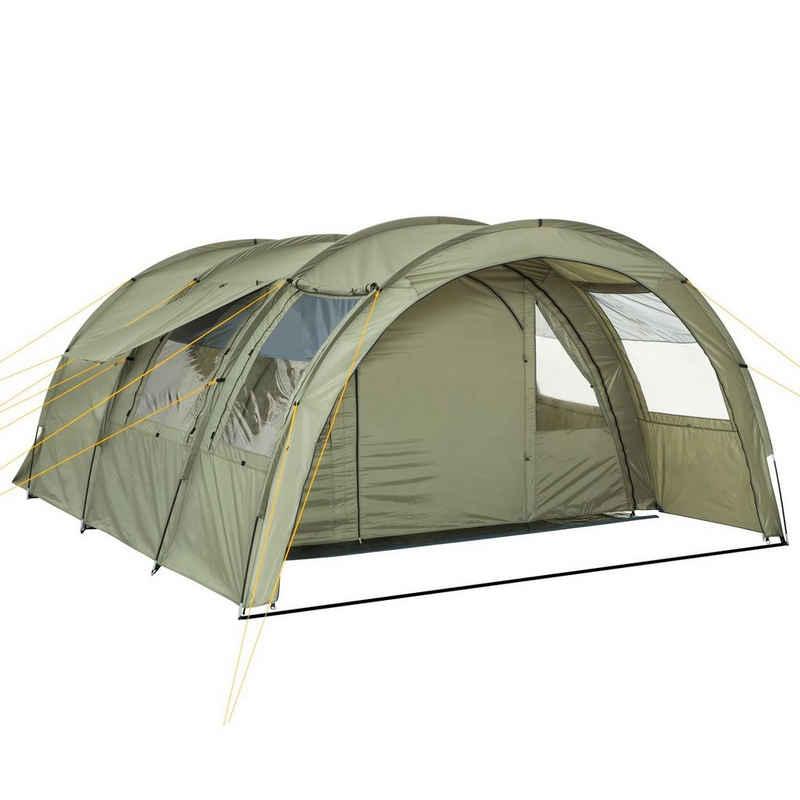 "CampFeuer Tunnelzelt »CampFeuer Tunnelzelt ""Multi"" Zelt für 4 Personen olivgrün Campingzelt«"