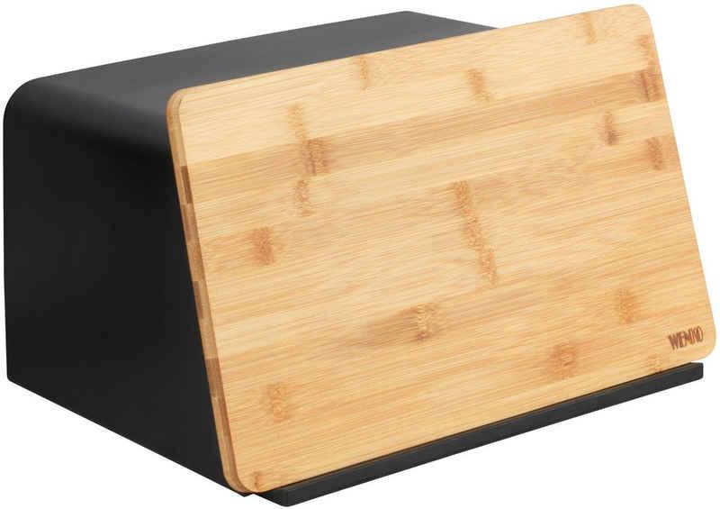 WENKO Brotkasten, Kunststoff, Bambus, (1-tlg), mit integriertem Bambusschneidebrett als Deckel