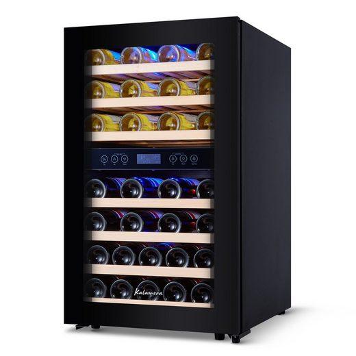 kalamera Weinkühlschrank KRC-120BFG, für 45 Standardflaschen á 0,75l,Abschließbare Glastür