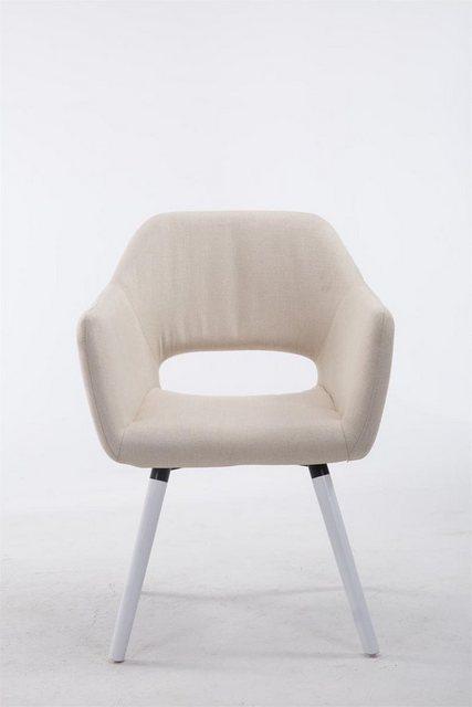 Stühle und Bänke - CLP Esszimmerstuhl »Auckland Stoff« mit Holzgestell und Armlehne  - Onlineshop OTTO