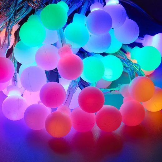 in.tec LED-Lichterkette, 50-flammig, 50 LED 12.8m Beleuchtung Weihnachten bunt Indoor Outdoor