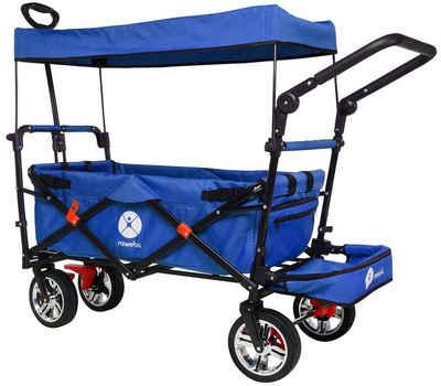 miweba Bollerwagen »MB-20«, Bremse - Dach - Breitreifen - Transporttasche - Klappbar - UV-Beständig - Handwagen faltbar