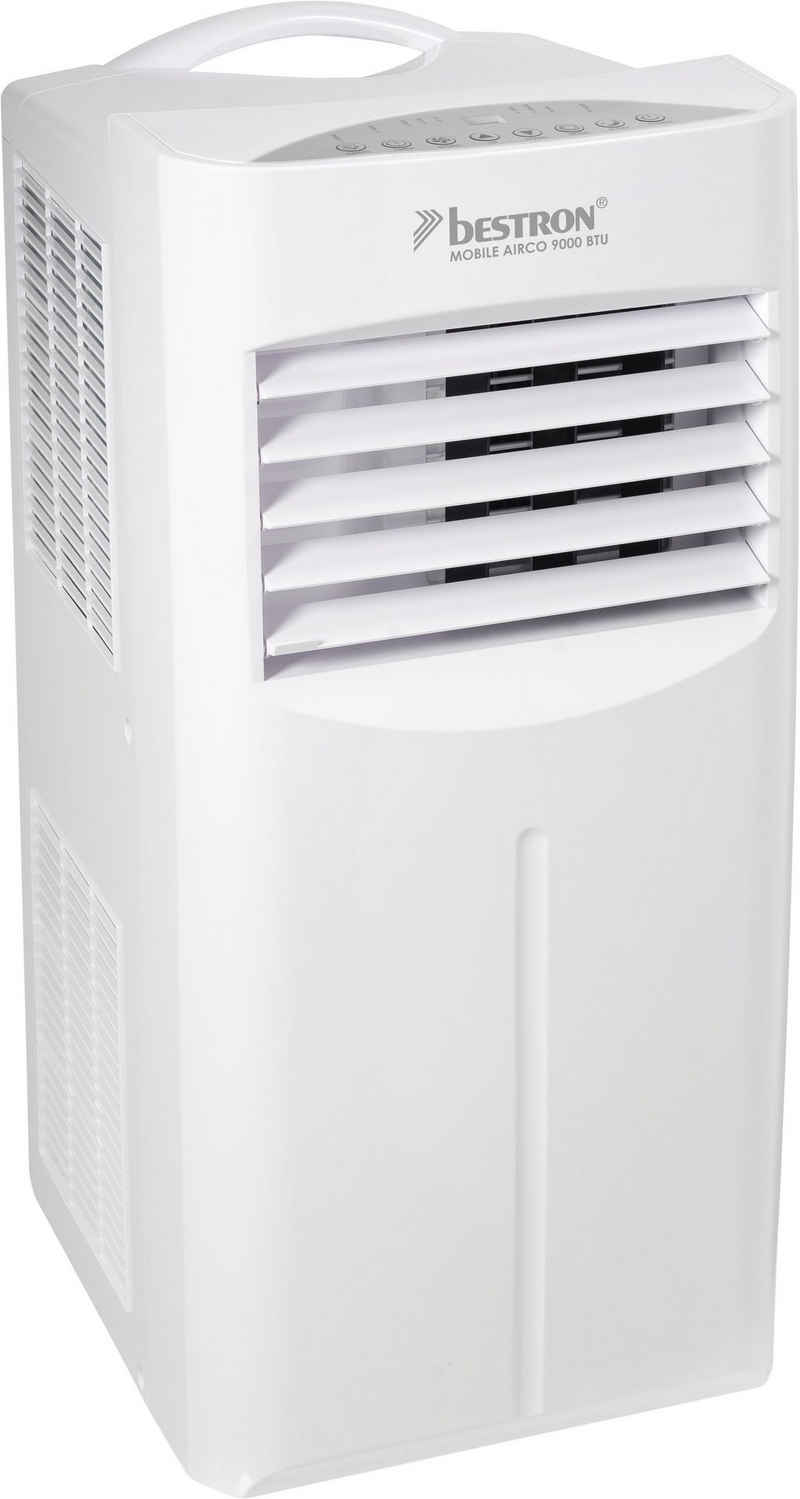 bestron Klimagerät AAC9000, Kühlleistung 2,6 kW mit umweltfreundlichem Kühlmittel, 9.000BTU/h, Farbe: weiß