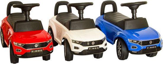 NATIV Spielzeug Rutscherauto, VW Rutscherauto mit Soundlenkrad und Kunststoffrädern