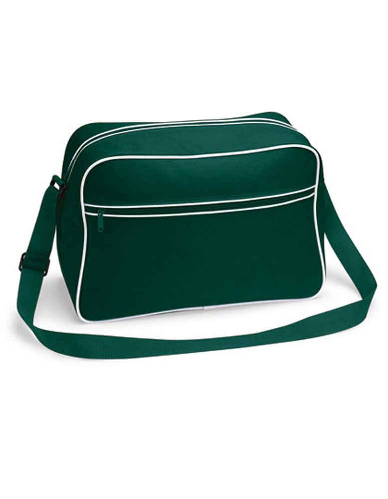 BagBase Sporttasche »BG14 Schultertasche Rucksack im Retro Look«, verstellbarer Schultergurt