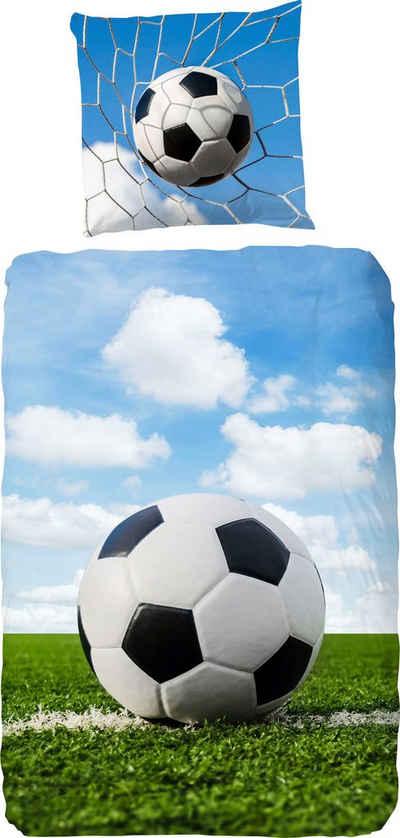 Kinderbettwäsche »Bal«, good morning, mit Fußball