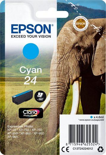 Epson »Tinte Singlepack Cyan 24« Tintenpatrone