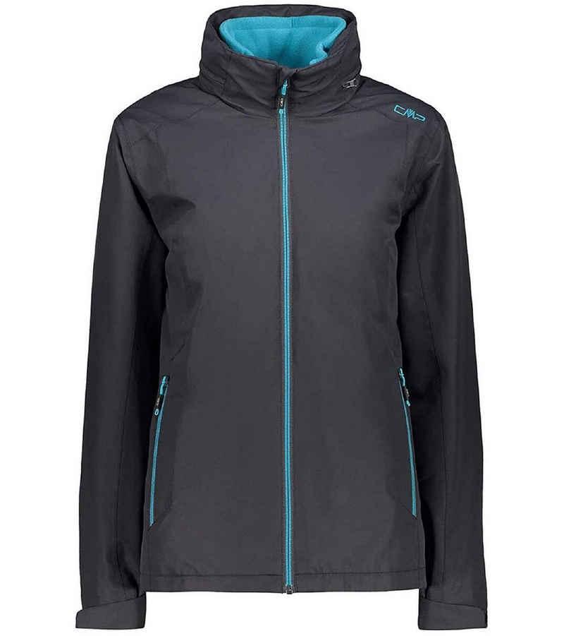 CAMPAGNOLO Outdoorjacke »Campagnolo Double Arctic Fleece-Jacke funktionelle Damen Softshell-Jacke Outdoor-Jacke Grau/Blau«