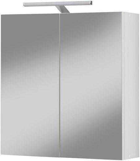 KESPER Spiegelschrank »Turin Aktion«, weiß, Breite 56,5 cm mit LED Aufsatzleuchte
