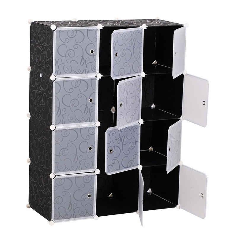 HOMCOM Garderobenschrank »Kleiderschrank mit Stecksystem«