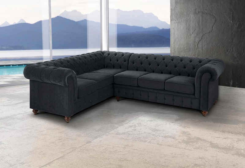 Premium collection by Home affaire Chesterfield-Sofa »Chesterfield«, mit Knopfheftung, auch in Leder