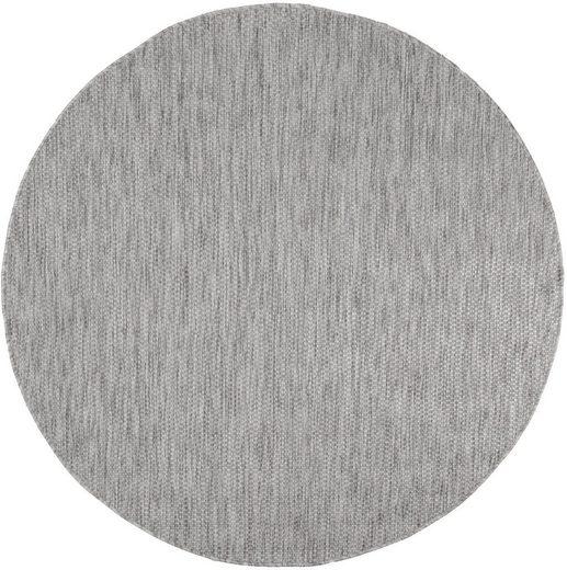 Teppich »Venedig«, Home affaire, rund, Höhe 5 mm, Sisal-Optik, In- und Outdoor geeignet, Wohnzimmer