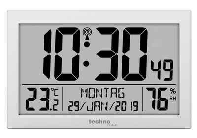 technoline Funkwanduhr »WS 8016« (mit Temperatur- und Luftfeuchteanzeige)