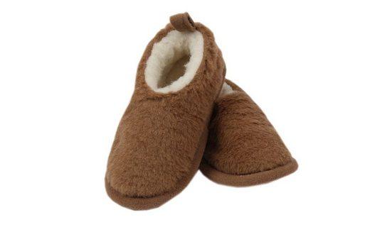 Primo Line »Primo Line Hüttenschuhe für Kleinkinder-gefütterte Hausschuhe für Mädchen und Jungen - warme Pantoffeln aus Merinowolle« Plüsch Hausschuhe