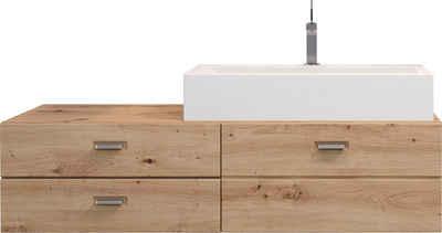 trendteam Waschbeckenunterschrank »Geo« inklusive Mineralguss-Aufsatzwaschbecken