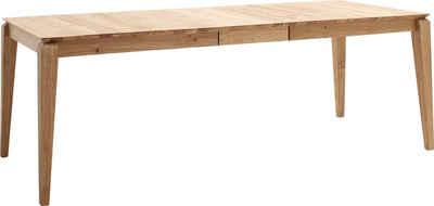 MCA living Esstisch »Whitby«, Massivholztisch ausziehbar in Wildeiche geölt