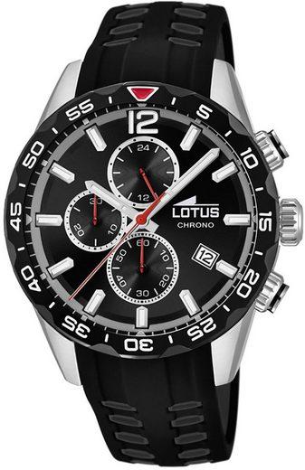 Lotus Multifunktionsuhr »UL18590/4 LOTUS Herren Uhr Sport 18590/4 PU«, (Analoguhr), Herren Armbanduhr rund, groß (ca. 45mm), PURarmband schwarz