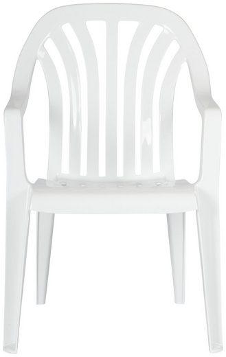 Best Gartenstuhl »Laredo« (Set, 4 Stück), 4er Set, Kunststoff, stapelbar, weiß