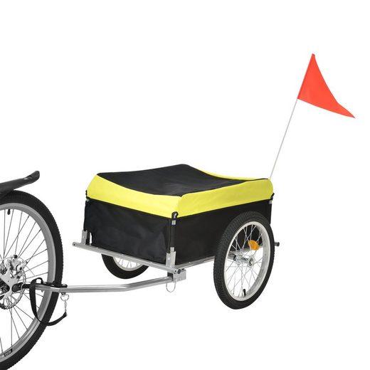 Pro-tec Fahrradlastenanhänger, Transportanhänger Lastenanhänger 130x65x50cm