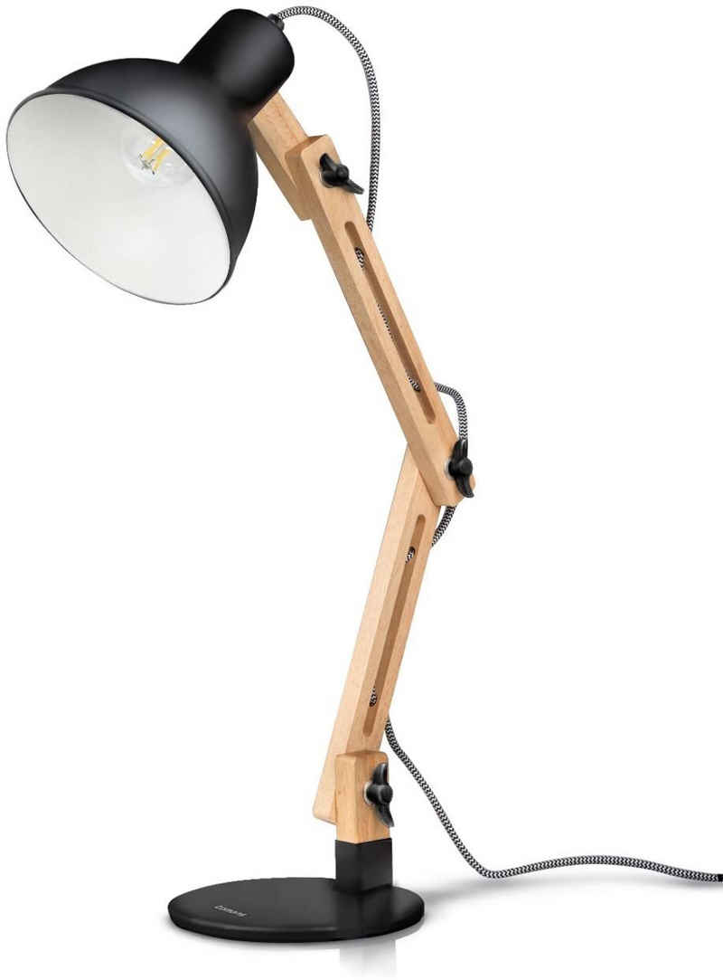 Tomons LED Schreibtischlampe »LED Leselampe im Klassichen Holz-Design«, Verstellbar, Energieklasse A++