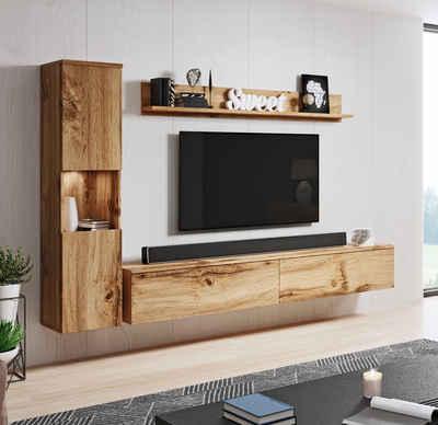 my home Wohnwand »PARIS«, (Set, 3-St)