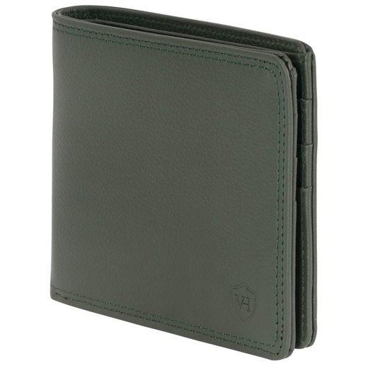 VON HEESEN Mini Geldbörse »Slim Wallet mit 8 Kartenfächern und Mini-Münzfach (grün)«