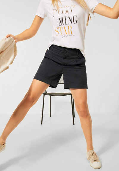 STREET ONE Shorts mit Paperbag-Taille