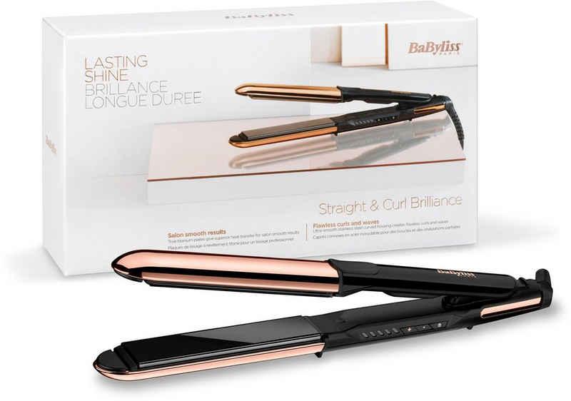 BaByliss Glätteisen »ST482E Straight & Curl Brilliance« Titan-Beschichtung, 2-in-1 Glätteisen