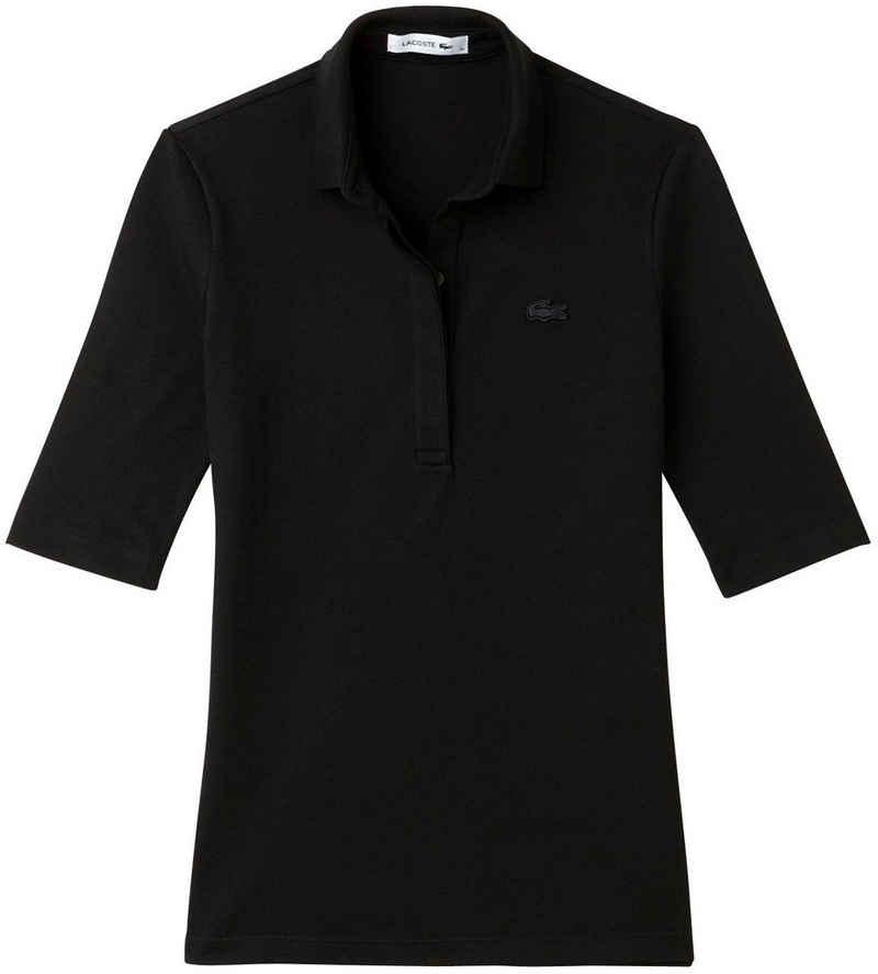Lacoste Poloshirt mit verdeckter Knopfleiste