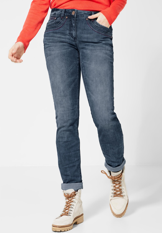 Cecil Slim fit Jeans im verzierten 5 Pocket Style | OTTO