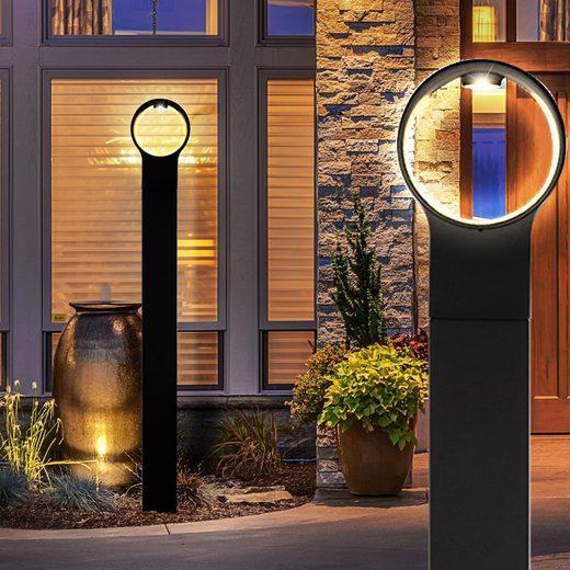 Nordlux LED Außen-Stehlampe, LED 4 Watt Steh Leuchte Außen Beleuchtung Stand Lampe IP44 Metall Nordlux 83678003