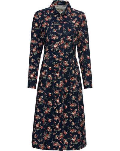 Highmoor Hemdblusenkleid »Cordkleid mit Rosen«
