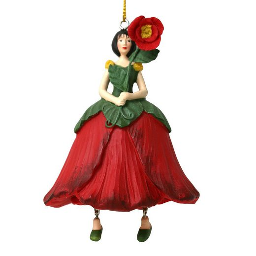 ROSEMARIE SCHULZ Heidelberg Dekofigur »Blumenmädchen Mohnblume zum Hängen Dekohänger Blumen Deko-Objekt«