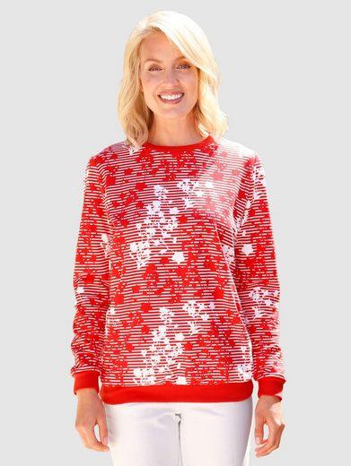 Paola Sweatshirt im modischen Druckdessin