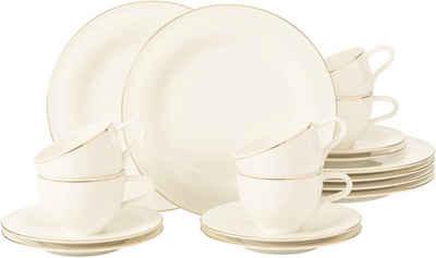 Seltmann Weiden Kaffeeservice »Medina Goldlinie« (18-tlg), Porzellan, mit feiner Goldlinie