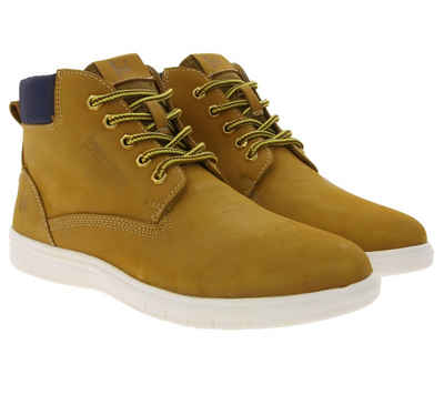 Bruno Banani »bruno banani Sneaker-Boots modische Herren Hightop-Sneaker aus Nubukleder Halb-Schuhe Schnürschuhe Beige« Sneakerboots