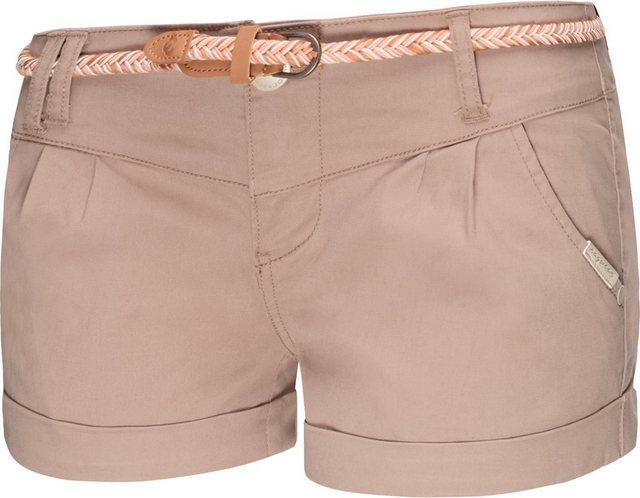 Hosen - Ragwear Shorts »Heaven B« (2 tlg) leichte Hotpant mit hochwertigem Flechtgürtel › braun  - Onlineshop OTTO