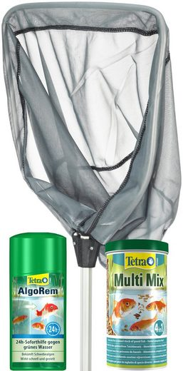 Tetra Teichpflege, (Set), Kescher, AlgoRem 500 ml, MultiMix 1 Liter