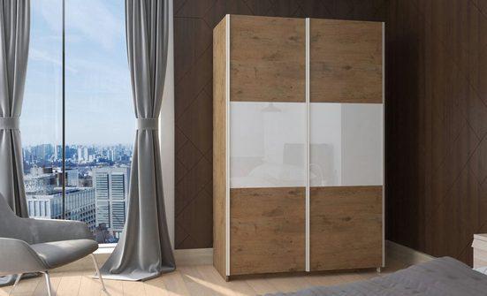 Küchen-Preisbombe Kleiderschrank »Kleiderschrank Schwebetürenschrank Schrank Schlafzimmer Eiche Lancelot 130 cm«