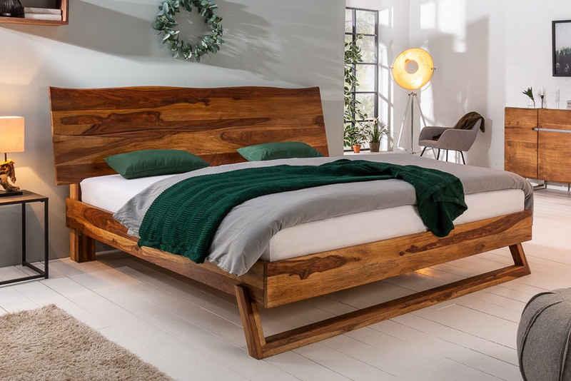 riess-ambiente Bett »MAMMUT 180x200cm braun«, Schlafzimmer · Massivholz · Baumstamm